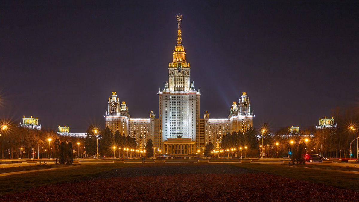 The Moscow State University at night Office Building Exterior Skyscraper Tourism Travel Outdoors Tall - High Travel Destinations No People Building Exterior Architecture Built Structure Tower Illuminated Night City Building Moscow Stalin Stalin Skyscraper Stalinist Architecture University Nightphotography Nightscape Education
