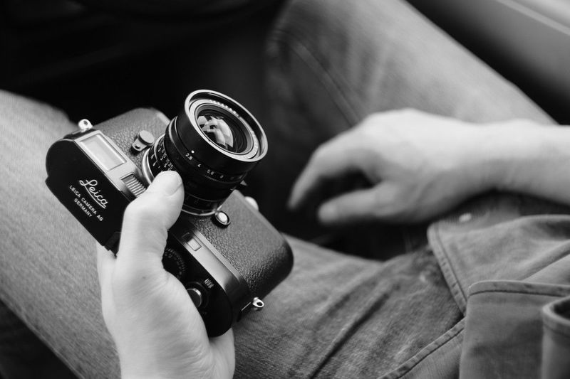 ELMARIT-M 28mm F2.8 Me Me My Camera And I Camera Camera - Photographic Equipment Close-up Hand Holding Human Body Part Human Hand Indoors  Leica Lifestyles M9-p One Person Photographic Equipment Photography Themes Real People Technology