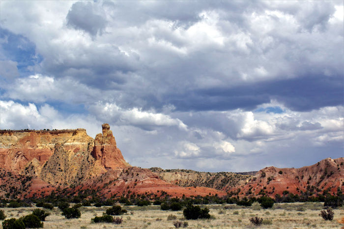 Abiquiu Abiquiu, NM Been There. Chimney Rock Dramatic Sky Georgia O'keeffe Ghost Ranch  Great Outdoors Lost In The Landscape Nature New Mexico Scenic American Southwest Beauty In Nature Clouds Landscape Red Rocks  Scenics The Great Outdoors