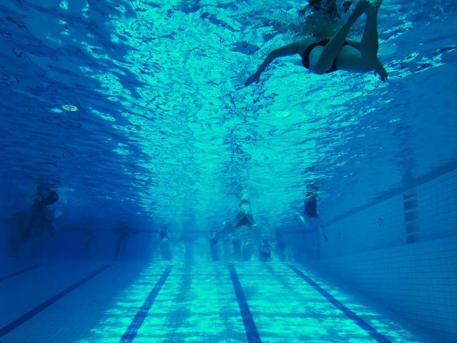 Berlin Swimming Pool Underwater Blue