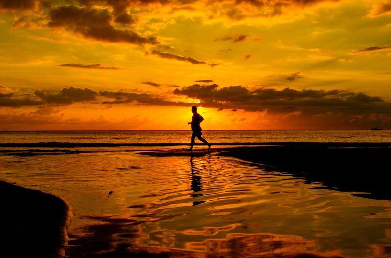 a jogging man