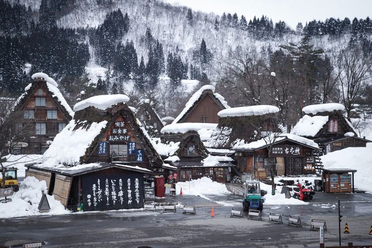 Shirakawa-go Snow Winter Cold Temperature Built Structure House Building Exterior Architecture Travel Destinations Snowing