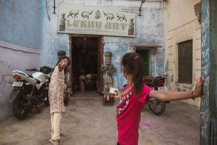 Streets of Jodhpur ... Travel Travel Destinations Jodhpur Rajasthan Streetphotography Art Girls Business Money Girl Summer Blue Cultures Storytelling Young Women City Women Beautiful Woman Standing Architecture Visiting Shopaholic Tourist Attraction  Boutique Tourism The Traveler - 2019 EyeEm Awards The Street Photographer - 2019 EyeEm Awards