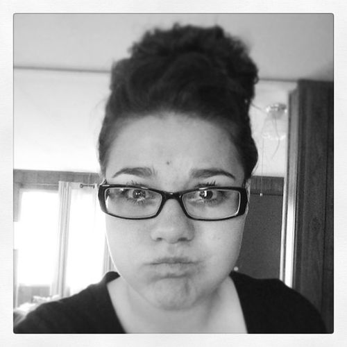 Bubbleface Woah Kindaretarded Glasses bun blackandwhite