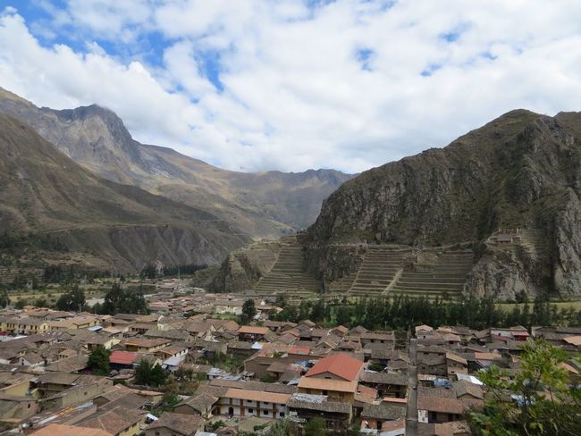 Building Exterior Mountain Architecture Built Structure Day No People Outdoors Scenics Sky Beauty In Nature High Angle View Nature Mountain Range Tranquility Roof Landscape Tree Peru Valley Ollantaytambo Ollantaytambo - Peru Inca Ruins Travel Destinations Travel Tourism