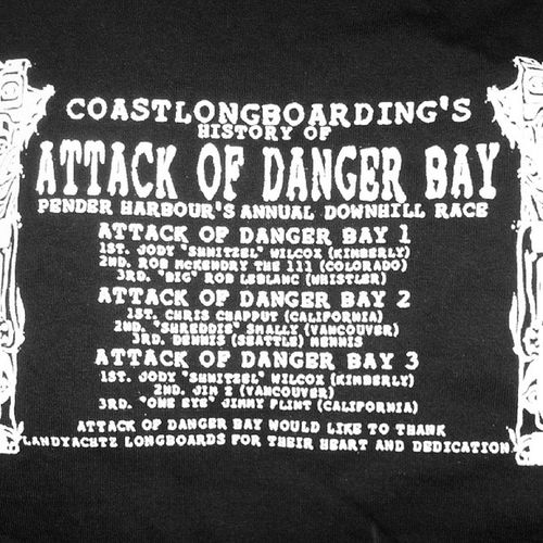 Giving away these OG shirts to OG racers. @stupettie got my XL DangerBay 3 shirt, who should get this one? Remember, its A BIG BOY SHIRT COASTLONGBOARDING