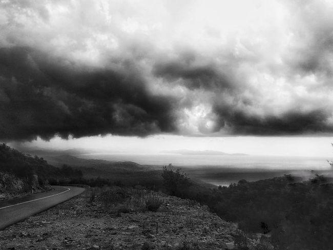 Storm Cloud Thunderstorm Cloud - Sky Landscape Nature Dramatic Sky Outdoors No People Storm Croazia Dugi Otok Monocrome Photography Black & White Atmosphere Monochrome Photography Black And White Photography Point Of View Melancholy Black And White Friday