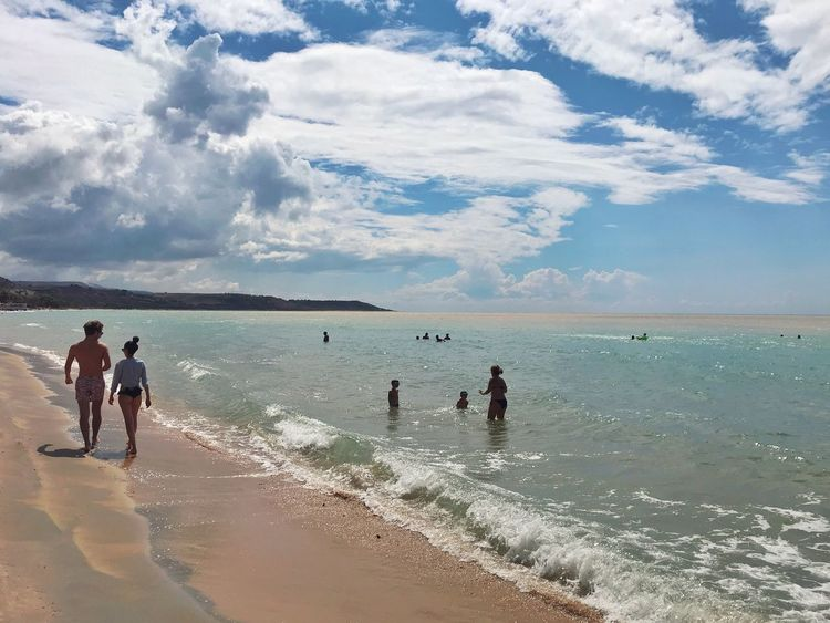 Costa Sud - Sicilia Nature_collection Nature Siciliabedda Sicilia Sicily Sea Beach Water Land Sky Group Of People Real People Cloud - Sky Horizon Over Water Leisure Activity Lifestyles Nature People Horizon Men Day Holiday Women Vacations Outdoors