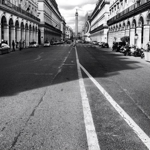 City Street Along Side Buildings