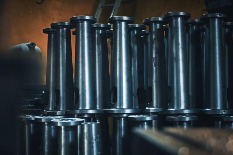 Close-up of metallic equipment