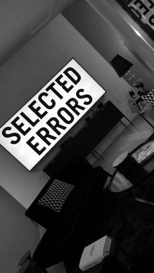 selected errors