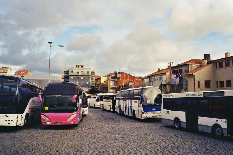 Building Exterior Built Structure Bus Stop Buses Cloud - Sky Mode Of Transport Outdoors Porto Portugal Road Transportation Travel Travel Destinations Travel Photography Traveling