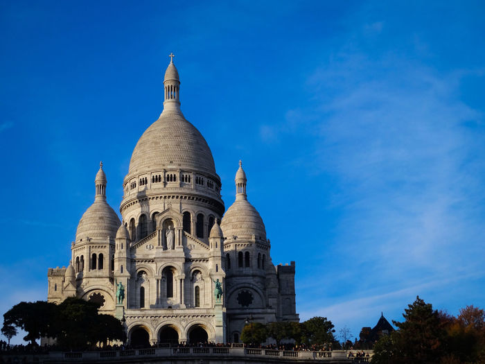 Sacre Coeur Montmartre Built Structure Building Exterior Architecture Sky Dome Travel Destinations Blue Tourism Low Angle View Travel Nature No People The Past History Day Building Paris Sacre Coeur Montmartre Montmartre, Paris Architecture Cityscape Sightseeing