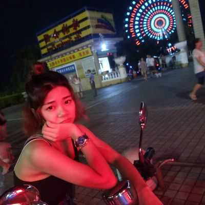Goodnight.☺ Portrait Looking At Camera Night Red Adults Only Adult People Only Women Beautiful Woman Young Adult Outdoors Women City