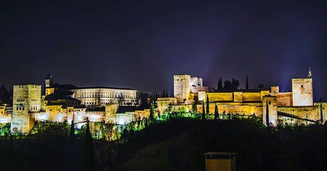 Again, the Alhambra palace, this time at night from the San Nicolás viewpoint in the city. A long steep walk takes you up to a little plaza where you'll find loads of people taking in the views too. Alhambra Palace Night Night Shots  Granada Andalucía Andaluciagrafias Wu_spain Loves_spain Igersspain Igerspain Ok_spain Spain_beautiful_landscapes Spain_gallery España Spainiswonderful Total_spain Ig_spain_ Beautiful Amazing Historic Landscape_lovers Amazingphotohunter Superhubs_shot Stunning_shots igworldclub ig_bestshots awesome_shots instagood nikon