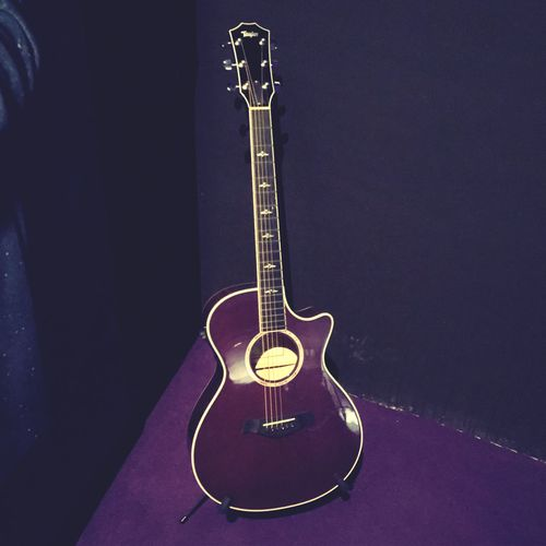 Prince's Purple Taylor EyeEmNewHere Mynameisprince O2 Arena London No People Arts Culture And Entertainment Indoors  Musical Instrument Music Guitar Acoustic Guitar Prince  Purple Taylor Purple Rain