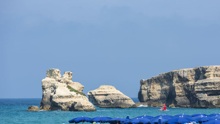 Dreamlike salento. bay of torre dell'orso. puglia, italy