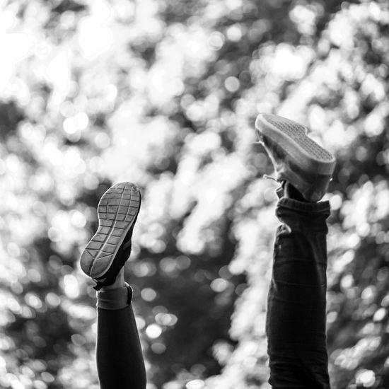 Monochrome Photography Outdoors Day Woman Man Feet Foot Leg Street Limb Nature Calm Upsidedowntography Upside Down Focus On Foreground