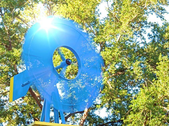Blue windmill