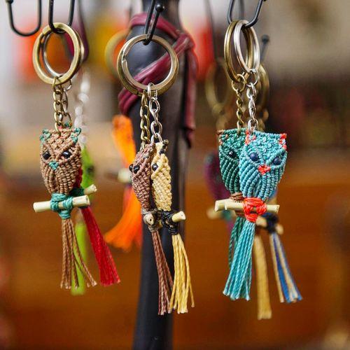 Llaveros Keyrings Arts And Crafts Artigianato Portachiavi Gufo Style Handmade Coruja Owls