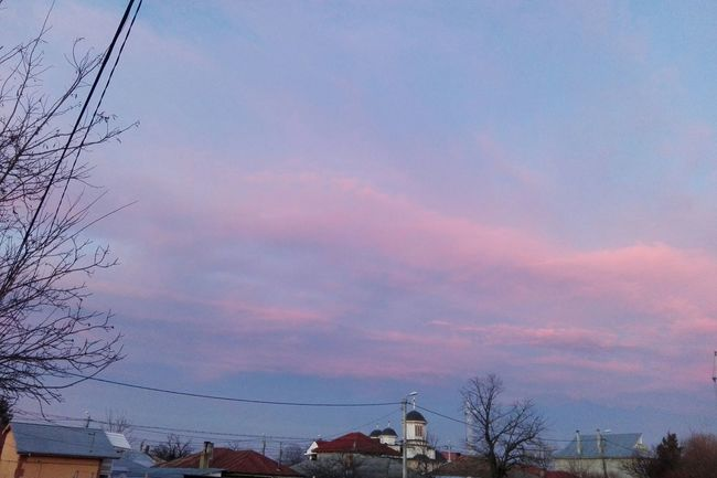 Sky Cloud - Sky Low Angle View Sunset Outdoors Nature Tree Cable Beauty In Nature Houses Church Romania Huaweiphotography Ionita Edited By @wolfzuachis On Market Ionitaveronica @WOLFZUACHiV Eyeem Market Showcase: 2017 Wolfzuachiv Showcase: February Veronicaionita EyeEmNewHere Beautiful Sky Millennial Pink