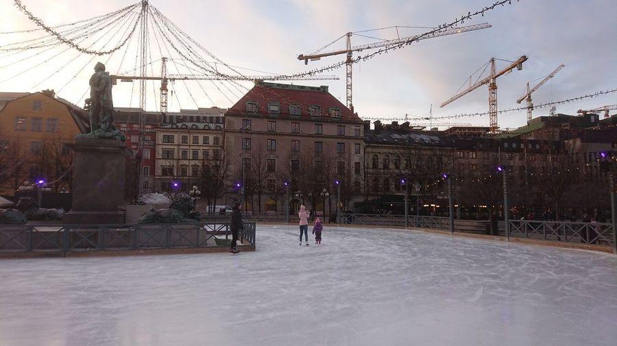 Ice-skating in