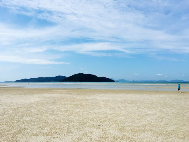Little island Sand Beach Sky Sea Water Nature Landscape