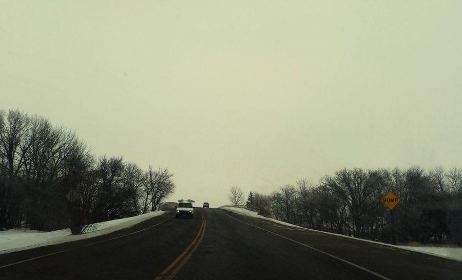 January 6, 2016 QVHoughPhoto FujiFilmX100 Fargo Northdakota Landscape Winter Snow Road Bump Urban1
