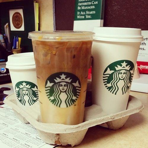 Today's lunch brought to you by Starbucks Vetnursepowerlunch Vetnurse Vettech iworkwithanimals