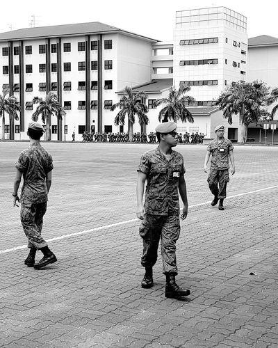 Army Military Uniform Camouflage Clothing Bnwsingapore Bnwphotography Bnwstreetphotography Streetphotography Sg_streetphotography Enlistment Day Tekong Singapore National Service