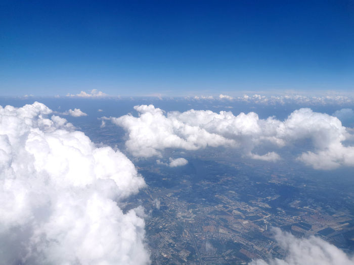 High angle view of cloudscape against sky
