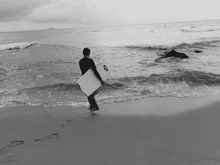 Rincon, Puerto Rico BodyBoarding Boogieboarding Wave Domes Beach Black And White Friday