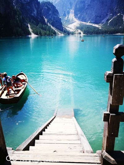 Lago Braies. Alto Adige (Italia) Nautical Vessel Water Day Lake Outdoors Moored No People Mountain Nature Beauty In Nature Sky Gondola - Traditional Boat