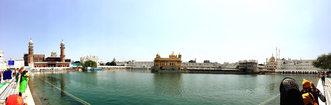 EyeEm Selects IPhoneography Large Group Of People Travel Destinations Golden Temple India Water Clear Sky Vacations