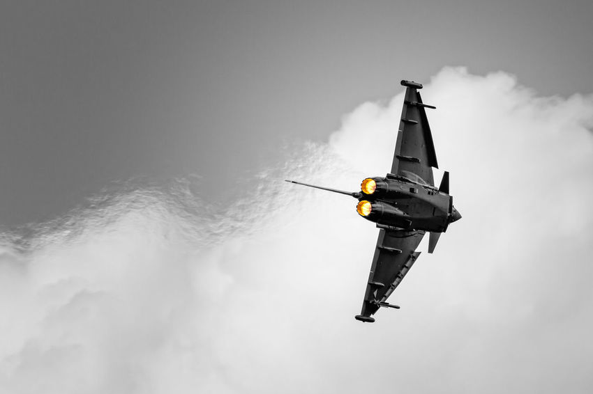 Afterburn Afterburner Air Vehicle Day Eurofighter Eurofighter Typhoon Low Angle View Mode Of Transport Nature No People Outdoors Sky Transportation Zeltweg