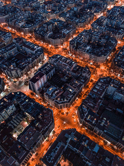The Grid By Night Cityscape City Building Exterior Architecture Aerial View Illuminated Built Structure High Angle View Building Residential District City Life Street Night Barcelona Aerial Photography Dronephotography Barcelonalove Eixample Barcelona♡♥♡♥♡