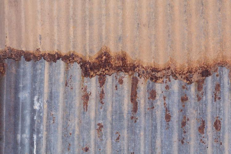 Corrugated Obsolete Backgrounds Damaged Decline Lron Metal Mottled Old Rusty