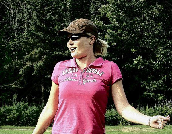 Golfing on my 40th bday.