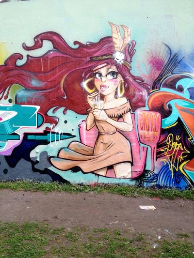 One of my Stereoheat / Super Bad Boys Characters at the Tommy Haus in X-Berg Graffiti Street Art