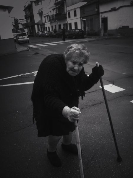 The curvature of live II The Human Condition Blackandwhite Bw_collection Streetphotography Portrait RePicture Ageing