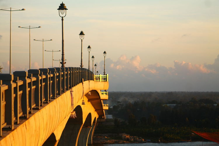 Purist No Edit No Filter Purist In Photography Exceptional Photographs Hoi An, Vietnam Vietnam No People City Fog Over The City Sky Sunset Yellow Copy Space The Way Forward Travel Photography Travel Sunser Over The Bridge Bridge View Bridge - Man Made Structure Golden Shimmer