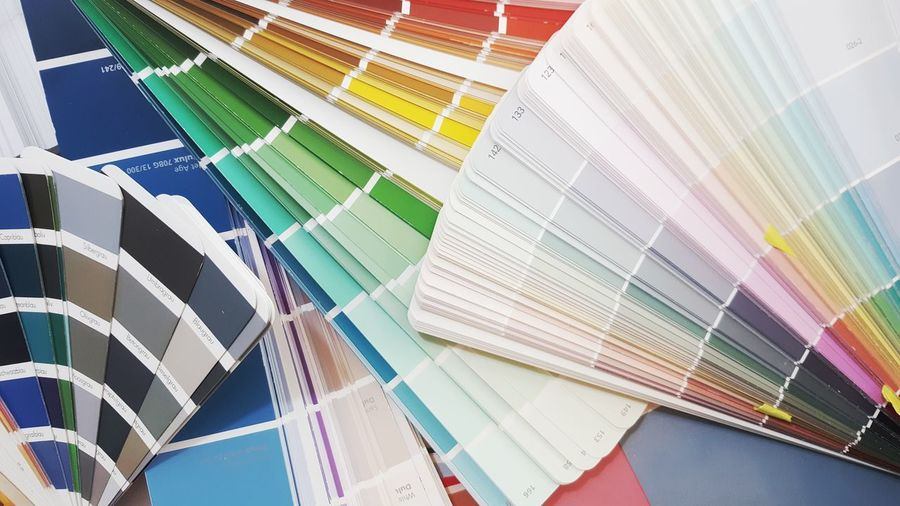 Multi Colored Full Frame Choice Indoors  Color Swatch Pattern Backgrounds No People Close-up Interior Design Interior Design Design Professional Architecture Architecture And Art Fandeck Colour Of Life Colours Colorful Variety Colors Pantone