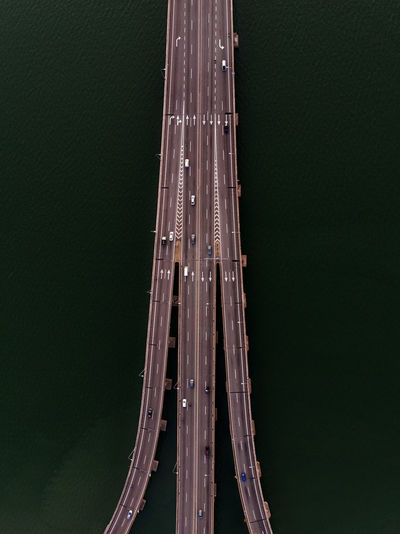Directly above shot of bridges over sea