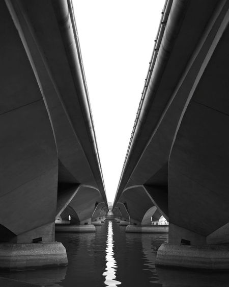 Bridge ViewfrOmbeLOw Urban Geometry Parallel Lines Learn & Shoot: Leading Lines Beauty From The Under Water Reflections Monochrome Photography Reflection_collection Reflection Water View From Below Urban Urbanexploration TakeoverContrast Adapted To The City The Graphic City