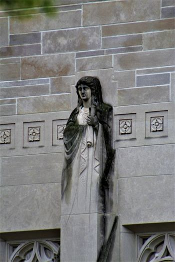 Indiana University Architecture Architecture Artistic Bloomington, Indiana Indiana University Architecture Art And Craft Building Exterior Built Structure Day Female Likeness History Human Representation No People Outdoors Sculpture Statue Adventures In The City