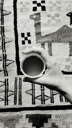 Breakfast Carpet Close-up Coffee Cropped Day Focus On Foreground Hand Home Human Finger Interior Leisure Activity Lifestyles Modern Morning My Favourite Breakfast Moment Oriental Outdoors Part Of Unrecognizable Person Urban White