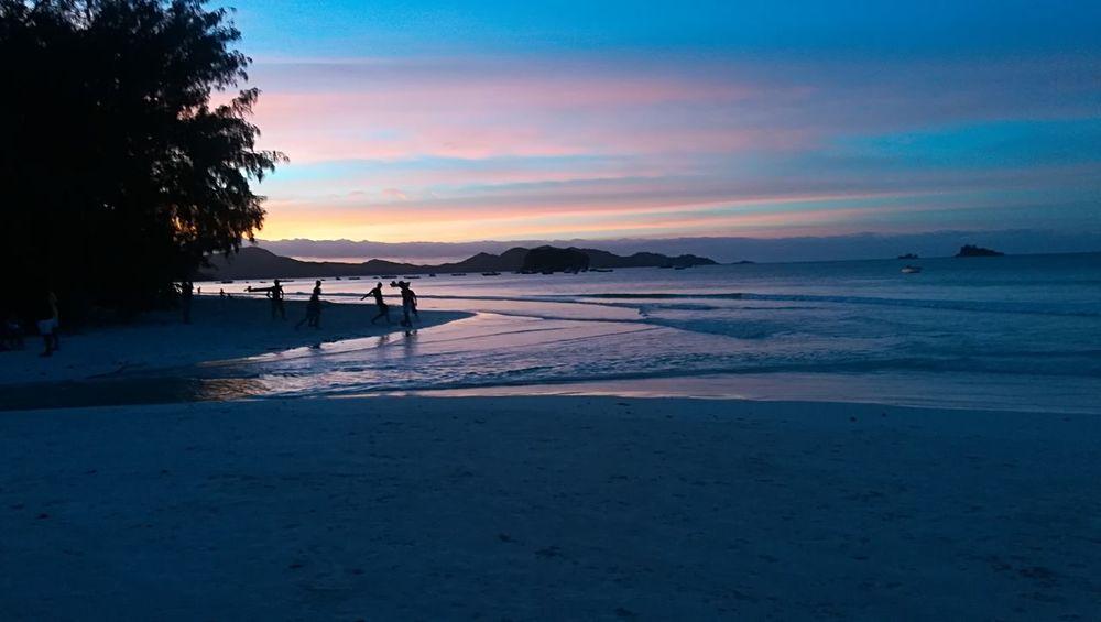 Football Child Water Sea Sunset Beach Full Length Sand Blue Silhouette Wave Calm Horizon Over Water Ocean Coastline Sandy Beach