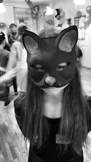Carnival Crowds And Details Cat Catoftheday Catwoman Catwomen🐱 CatWomen Mask Maskarade Maskedportraits Masked Masked People, Treat Carnival Party Carnival Mask Carnival Costume Costume Costume Party Portrait Girl Indoor Indoor Photography Bnw Bnw_life Bnwphotography Bnw_collection
