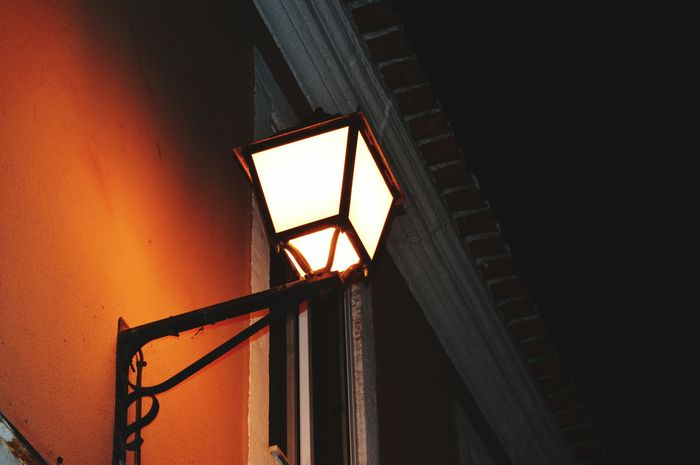 Street Photography Night PhotographyNight Street Setubal Portugal Photography By Me Orange Color Lights Sconce