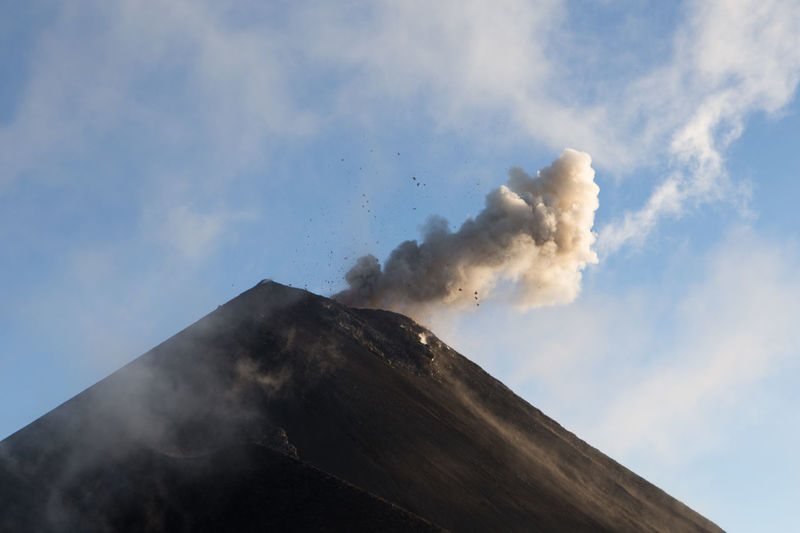 Mt Fuego erupting, Guatemala. Beauty In Nature Day Erupting Fuego Geology Guatemala Nature No People Outdoors Sky Smoke - Physical Structure Volcanic Landscape Volcano
